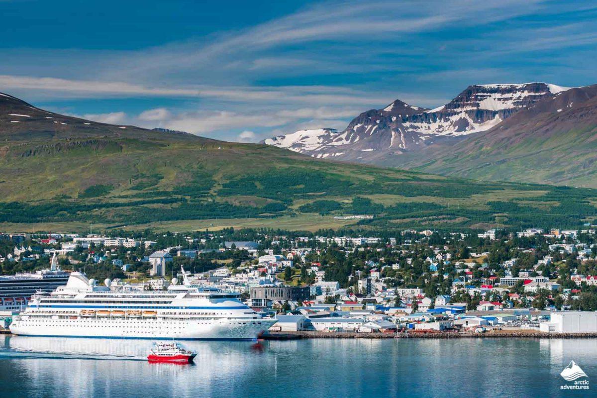 Akureyri town in Iceland