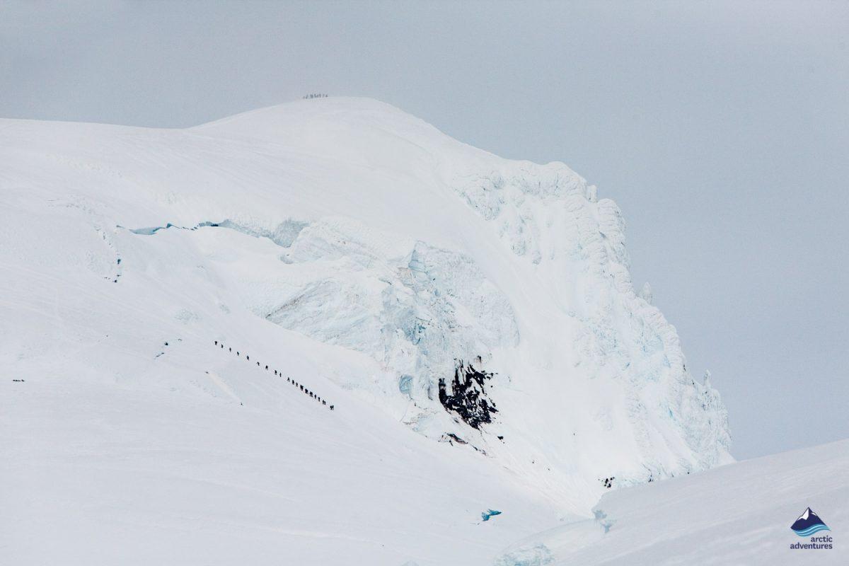 Hvannadalshnukur highest peak in Iceland