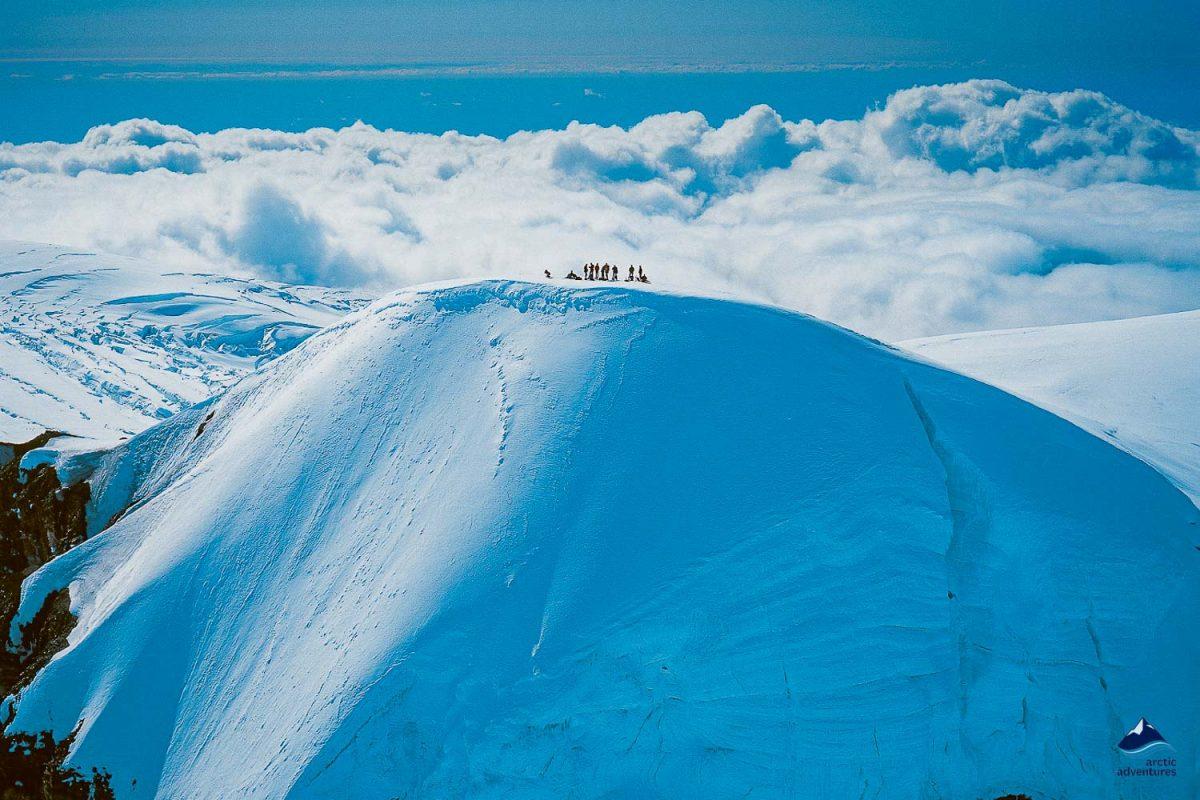 Hvannadalahnukur glacier summit in Iceland