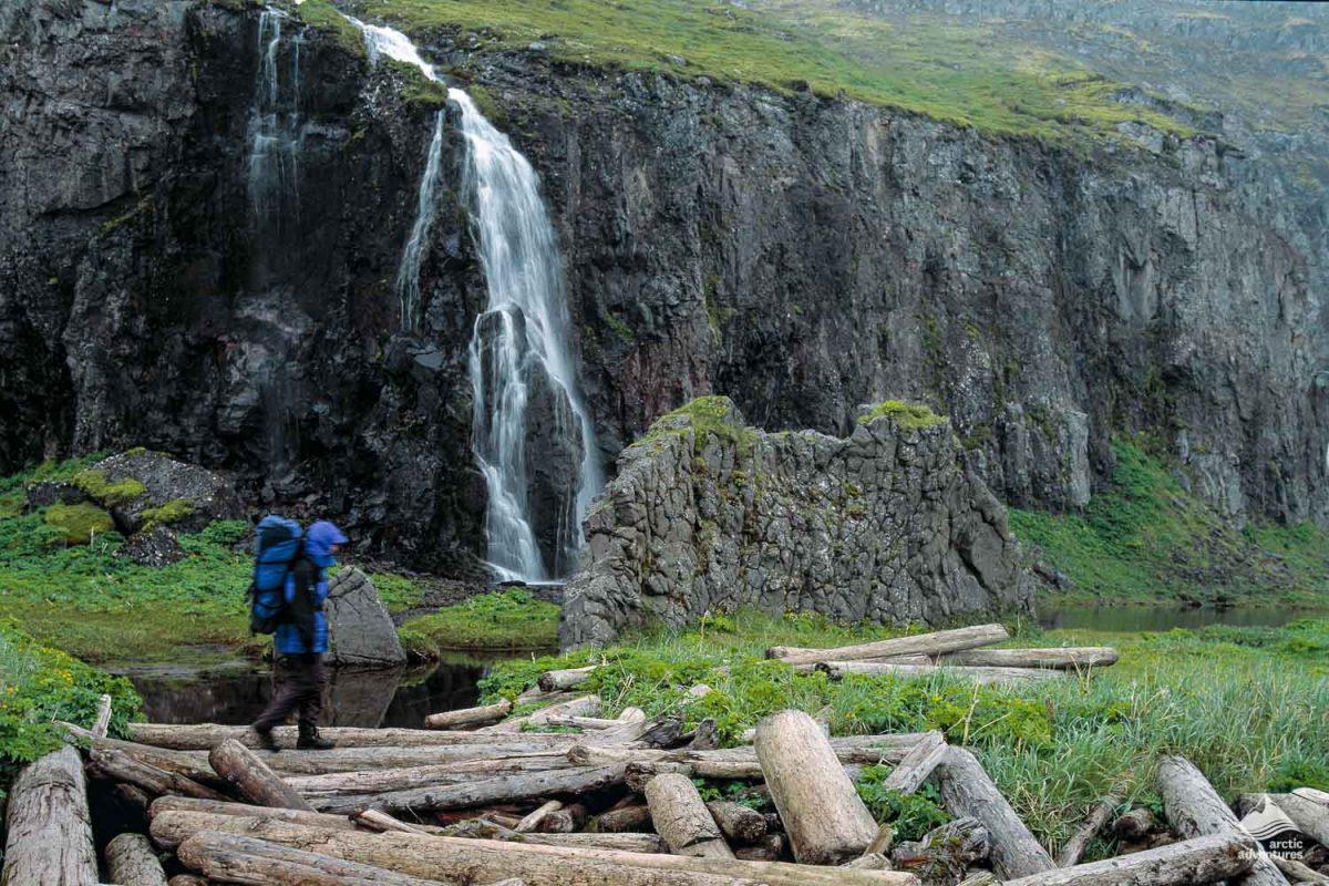 Waterfall in Hornstrandir in the Westfjords