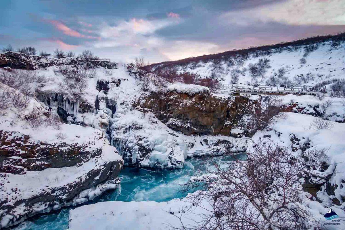 Barnafoss waterfall in Iceland