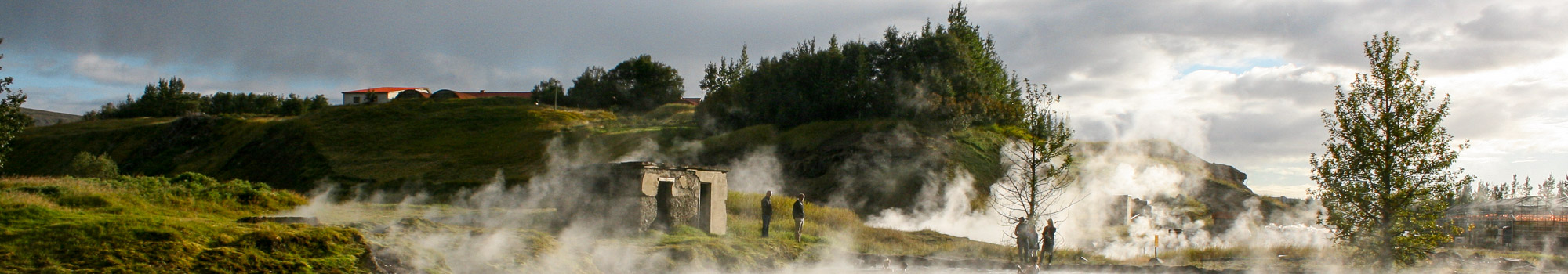Steaming secret Lagoon in Iceland
