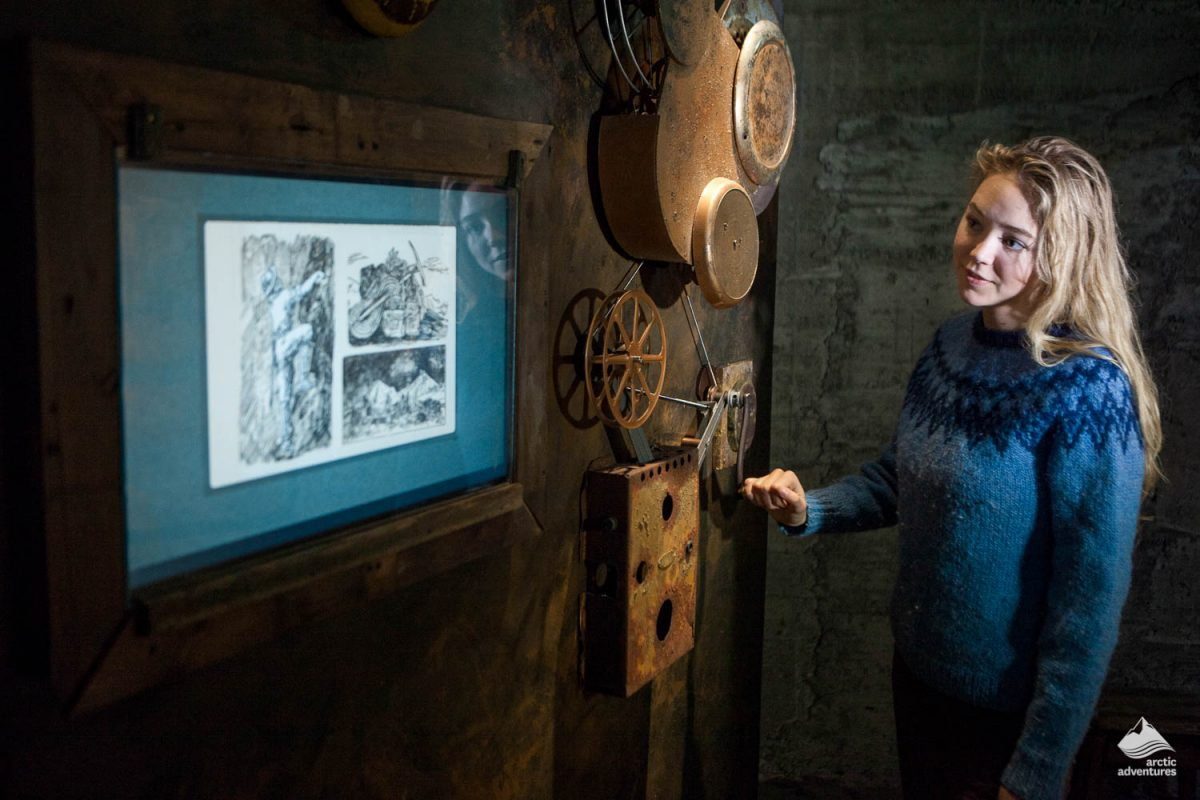 Woman at the museum in Wilderness center
