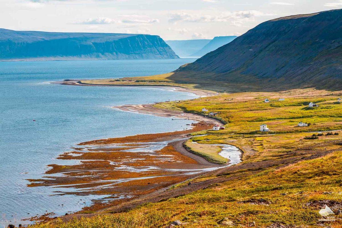 Hesteyri village in Westfjords of Iceland