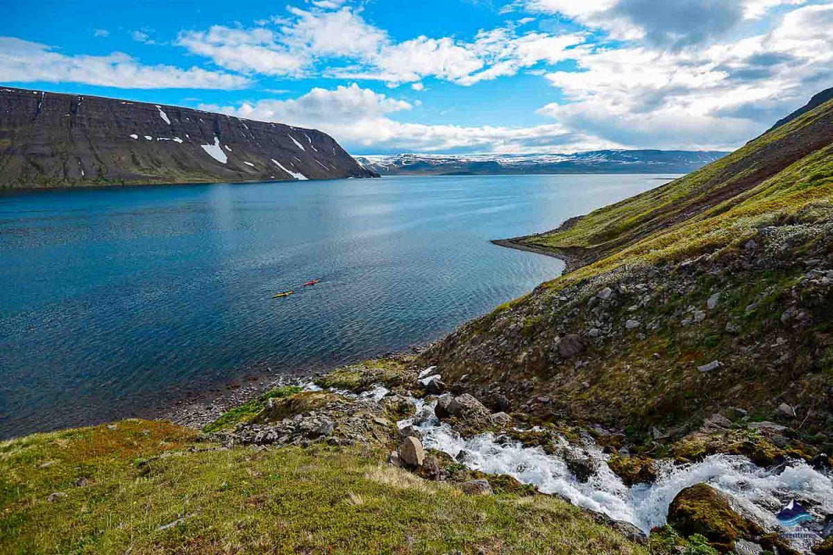 Lonafjordur fjord in Iceland
