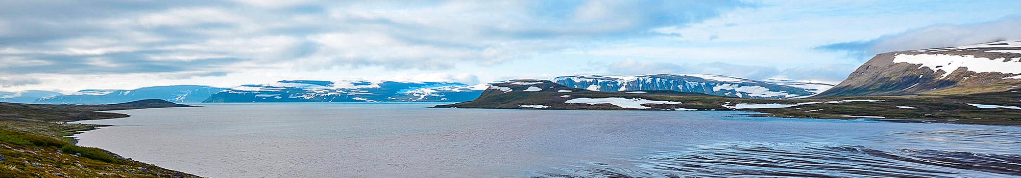 Landscape of the Westfjords of Iceland