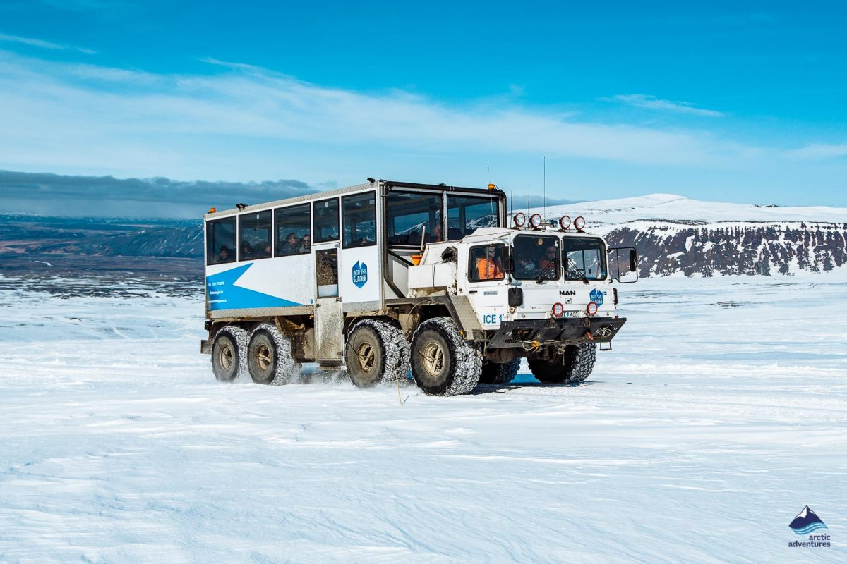 Into the glacier super truck
