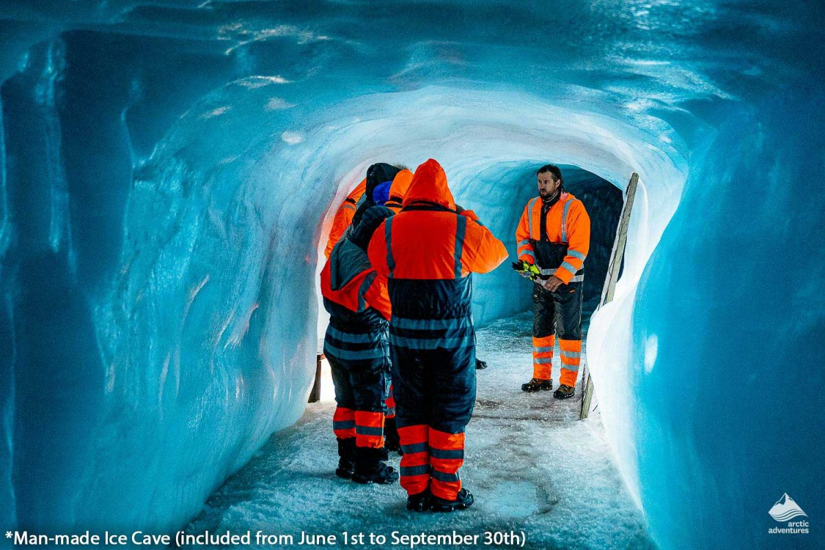 Into the glacier super truck in Iceland