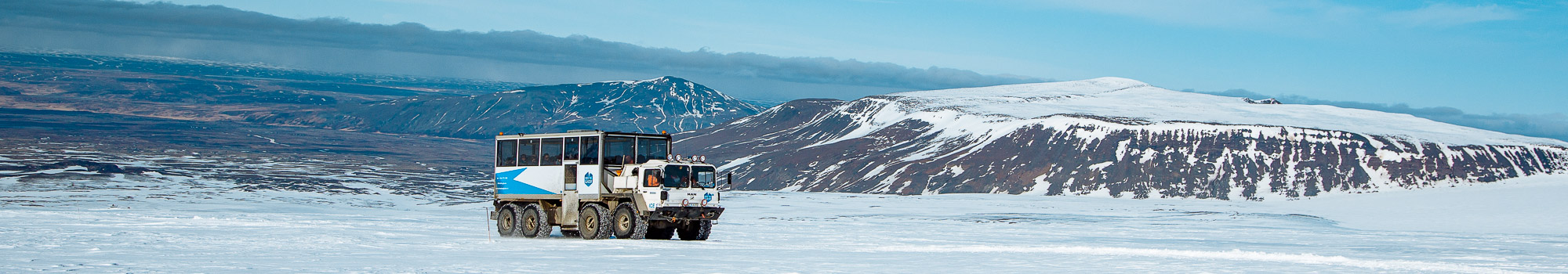 Super truck on a glacier in Iceland