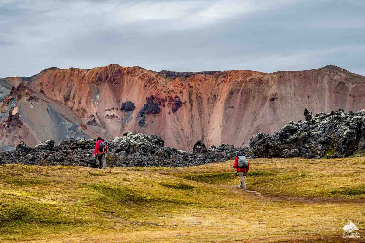 Rhyolite volcanic Landmannalaugar mountains