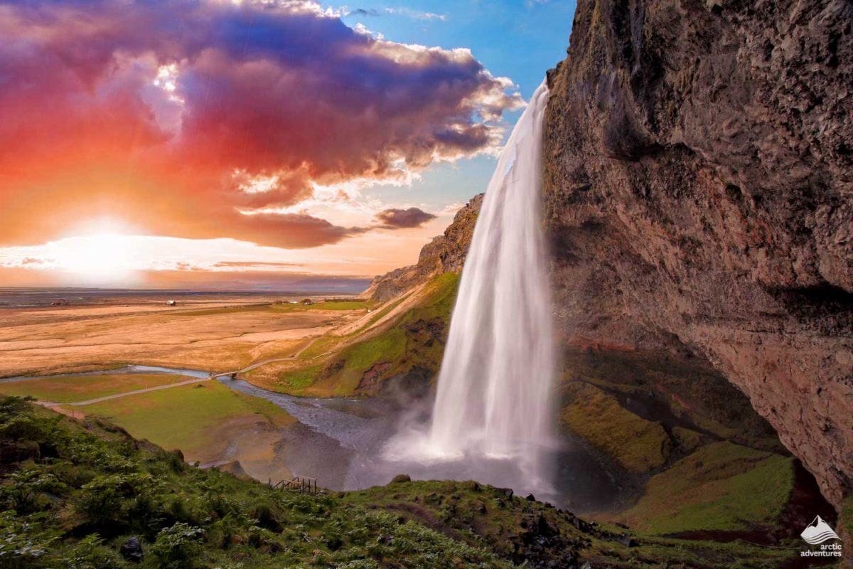 Seljalandsfos waterfall in South of Iceland