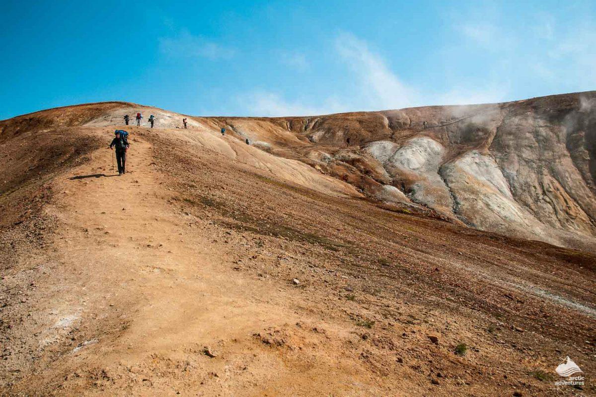 Laugavegur trek hikers