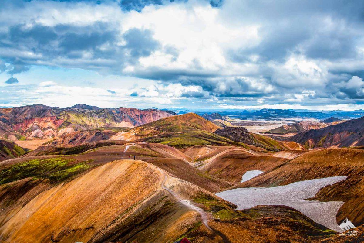 Laugavegur trek rainbow mountains landscape
