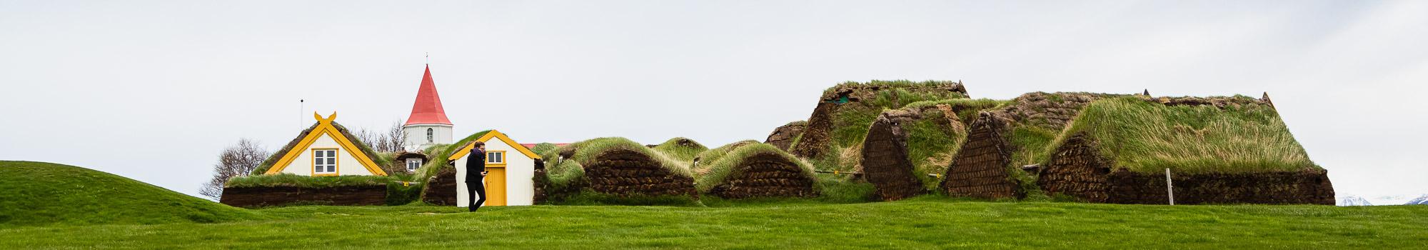 Glaumbaer museum Turf Houses in Iceland