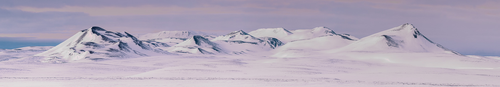 Snowy mountains in Iceland