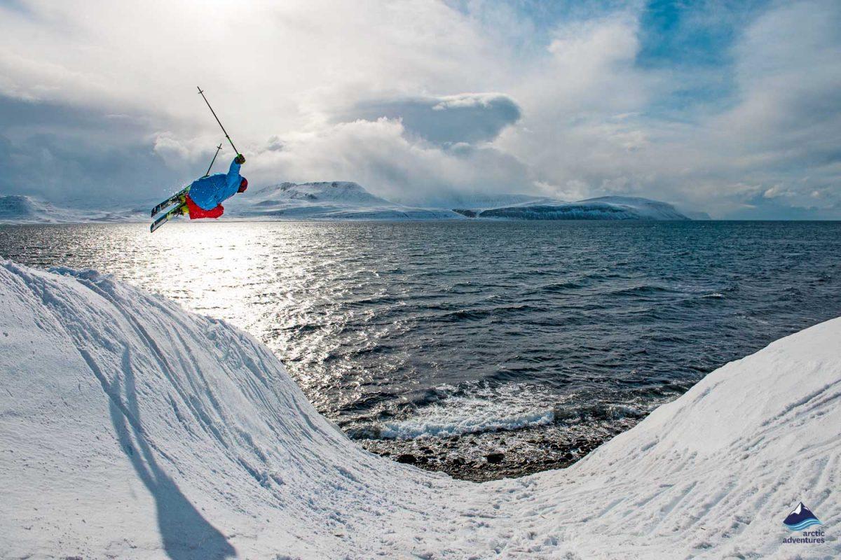 Kviar ski lodge extreme skiing