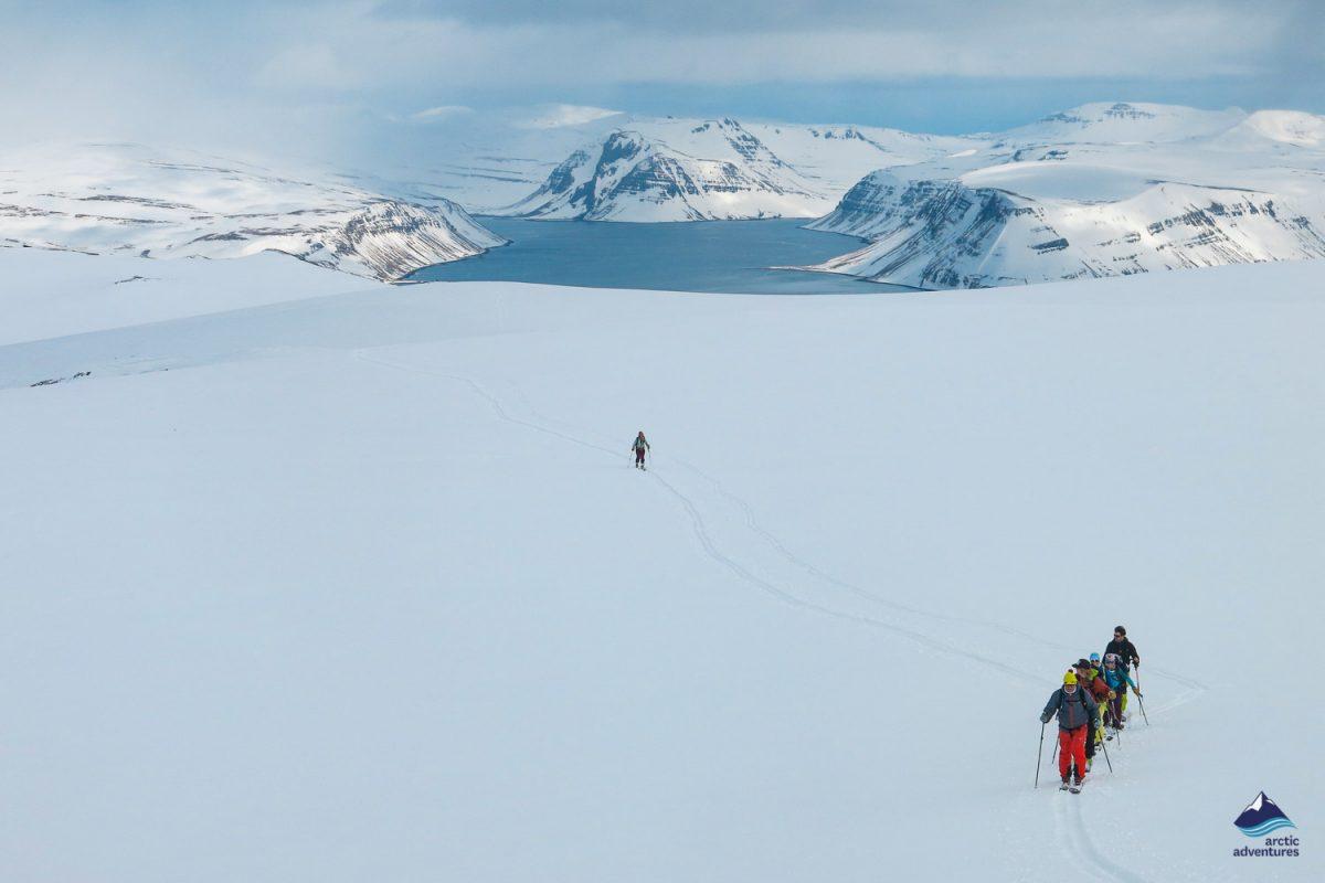Kviar ski lodge landscape in Iceland