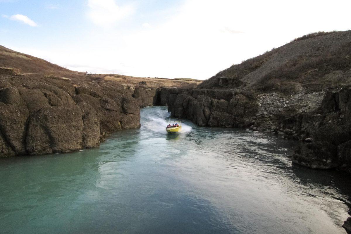 Riverjet auf der Hvítá in Island